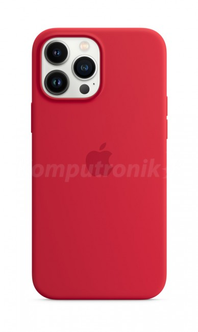 Apple iPhone 13 Pro Max Silicone Case with MagSafe – (PRODUCT)RED - zdjęcie główne