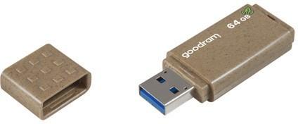 GOODRAM 64GB UME 3 ECO FRIENDLY brązowy [USB 3.0] - zdjęcie główne