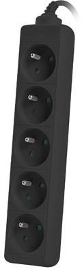 Lanberg listwa zasil.do UPS 1.5m czarna 5XPL - zdjęcie główne