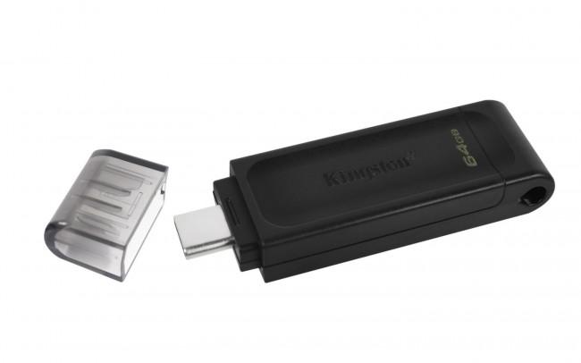 Kingston DataTraveler 70 64GB USB 3.2 Gen 1 Type-C - zdjęcie główne
