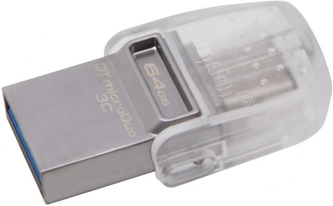 Kingston DataTraveler MicroDuo 3C 64GB USB Type-C - zdjęcie główne