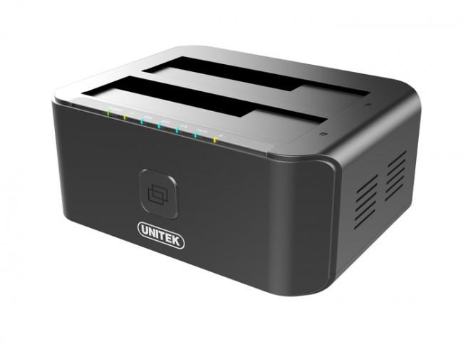 Unitek 2xHDD/SSD czarna - zdjęcie główne