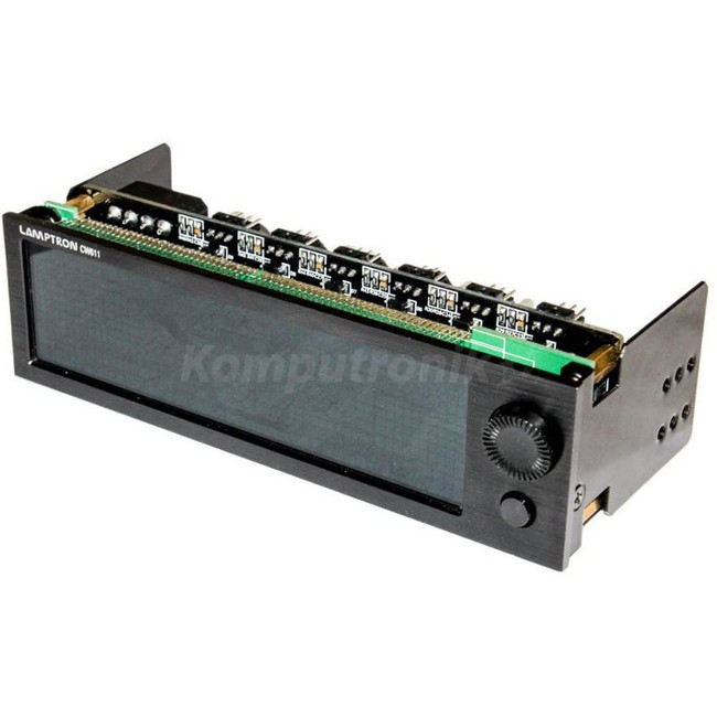 """Lamptron CW611 Watercooling Controller LCD 5,25"""" - czarny - zdjęcie główne"""