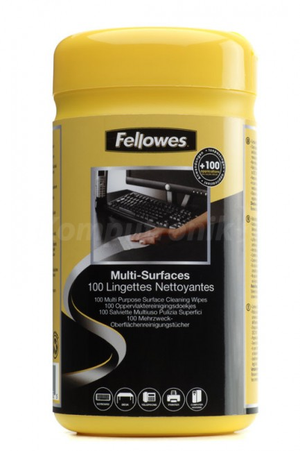 Fellowes ściereczki nasączone do obudów - tuba 100 szt. - zdjęcie główne