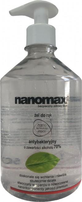 nanomax płyn antybakteryjny 0,5l - zdjęcie główne