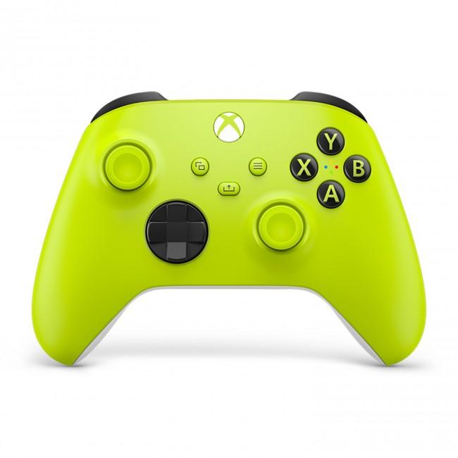 Microsoft Xbox kontroler bezprzewodowy żółty - zdjęcie główne