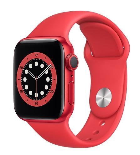 Apple Watch 6 GPS 40mm aluminium, PRODUCT(RED) pasek sportowy - zdjęcie główne