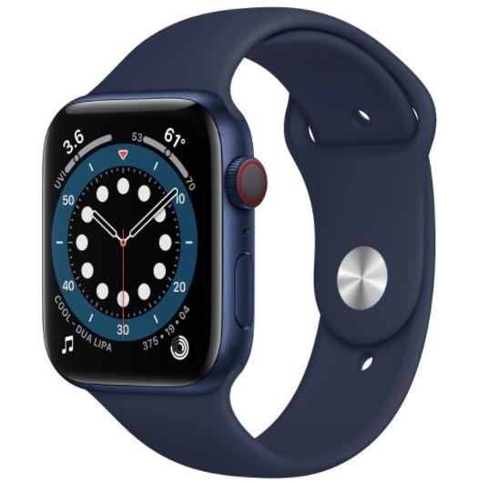 Apple Watch 6 GPS+Cellular 40mm aluminium, niebieski  głęboki granat pasek sport - zdjęcie główne