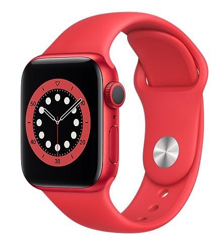 Apple Watch 6 GPS+Cellular 40mm aluminium, PRODUCT(RED) pasek sportowy - zdjęcie główne