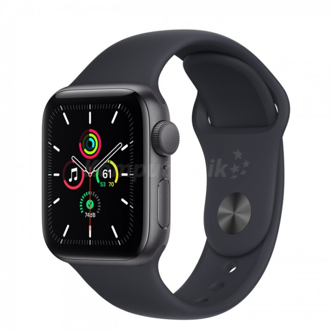 Apple Watch SE GPS 44mm aluminium, gwiezdna szarość | północ pasek sportowy - zdjęcie główne