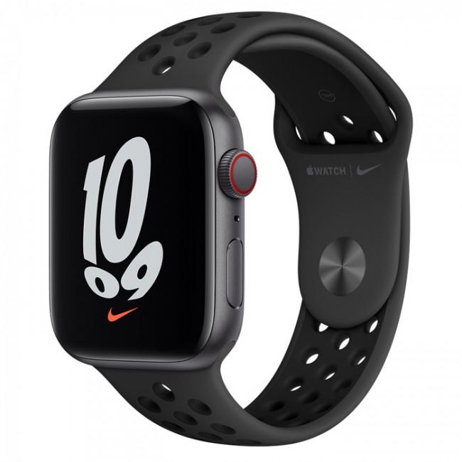 Apple Watch Nike SE GPS+Cellular 40mm aluminium, gwiezdna szarość|antracyt czarny pasek sp. - zdjęcie główne