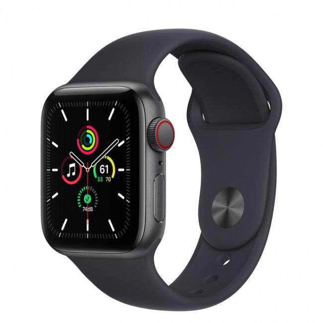 Apple Watch SE GPS+Cellular 44mm aluminium, gwiezdna szarość | północ pasek sportowy - zdjęcie główne