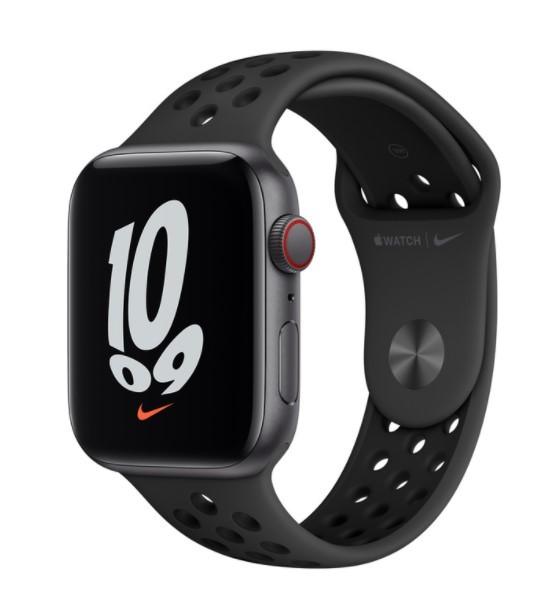 Apple Watch Nike SE GPS+Cellular 44mm aluminium, gwiezdna szarość antracyt czarny pasek sp. - zdjęcie główne