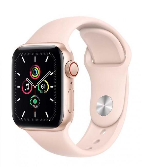 Apple Watch SE GPS+Cellular 40mm aluminium, złoty | piaskowy róż pasek sportowy - zdjęcie główne